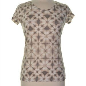 Style & Co Cotton Ivory Abstract Print Top